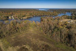 Aerial View of Smith Farm Estates, Yorktown Virginia